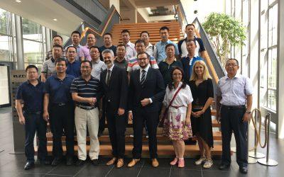 Chinesische Delegation bei der MR PLAN Group