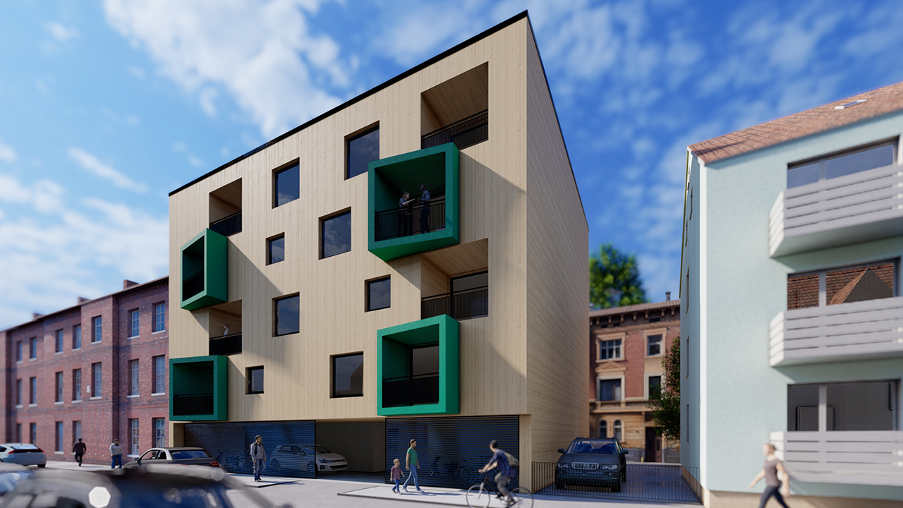 Know how aus Industrie- und Verwaltungsbau in Wohnungsbau adaptiert