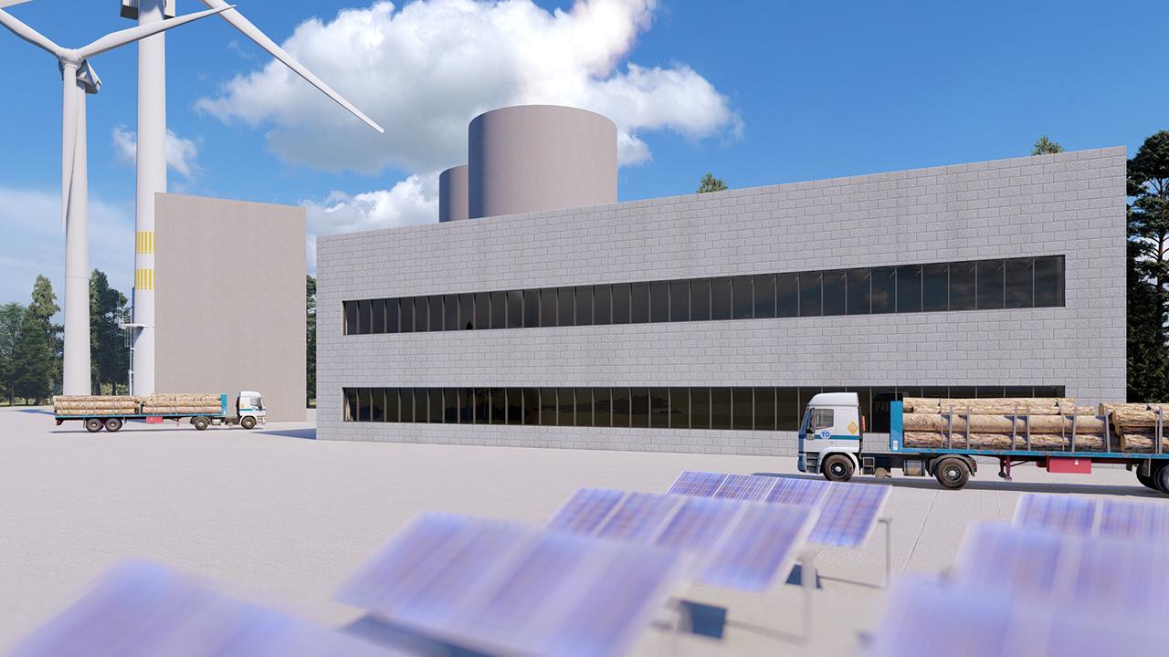 Holzenergiewerk als weiterer Block eines Ökologischen Kraftwerks