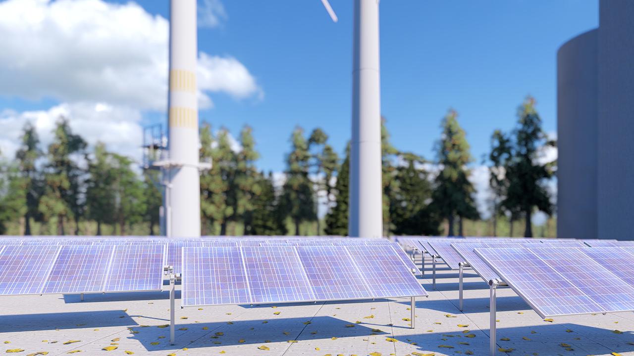 Photovoltaik-Anlage als Kraftwerksblock des Ökologischen Kraftwerks