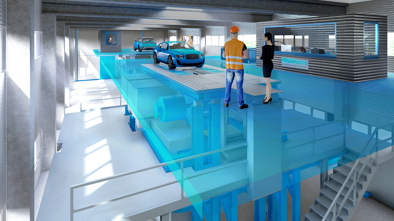 Competence Center Prüfstandsplanung und Prüfstandsintegration Rollenprüfstand Automobilindustrie